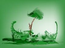 зеленая ладонь острова тропическая Стоковая Фотография RF