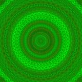 Зеленая мандала калейдоскопа Стоковое Фото