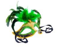 зеленая маска одно Стоковые Фото