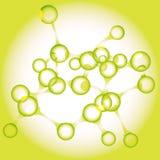 зеленая молекула Иллюстрация штока