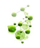 зеленая молекула иллюстрация вектора