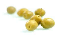 зеленая оливка Стоковое Изображение RF