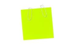 зеленая памятка примечания Стоковые Фото