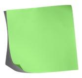 зеленая памятка Стоковые Изображения