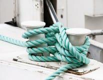 зеленая переплетенная веревочка Стоковая Фотография RF