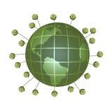 зеленая планета Стоковое фото RF