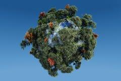 зеленая планета Стоковая Фотография