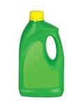 Зеленая пластичная детержентная бутылка Стоковые Изображения