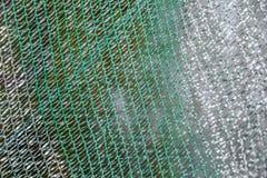 Зеленая пластичная предпосылка текстуры сети Стоковая Фотография RF