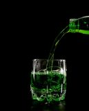 зеленая померанцовая вода выплеска стоковое изображение