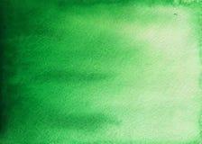 Зеленая предпосылка акварели стоковая фотография rf