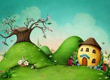 Зеленая предпосылка весны иллюстрация штока