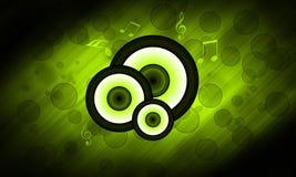 Зеленая предпосылка громкоговорителя Стоковые Изображения RF