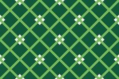 Зеленая предпосылка нашивки Безшовная картина с пересекать раскосные линии, клетку, квадраты также вектор иллюстрации притяжки co иллюстрация штока