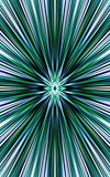 Зеленая предпосылка прямых нашивок расходится от середины к краям красивейший вектор Стоковая Фотография
