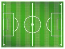 Зеленая предпосылка футбольного поля Реалистические текстурированные футбол или футбол травы иллюстрация вектора