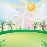 Зеленая предпосылка энергии Стоковые Изображения