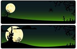 Зеленая предпосылка на Helloween Стоковые Изображения