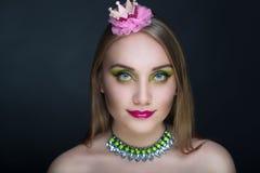 Зеленая принцесса Лягушка Стоковые Изображения