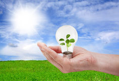 Зеленая принципиальная схема энергии Стоковые Изображения RF