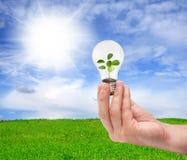 Зеленая принципиальная схема энергии Стоковое Изображение