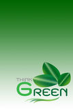 Зеленая принципиальная схема, думает зеленый цвет (включите пути клиппирования) Стоковые Фото