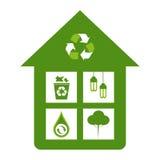 Зеленая принципиальная схема Eco Стоковые Изображения