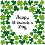 Зеленая рамка с клеверами на день St. Patrick r бесплатная иллюстрация