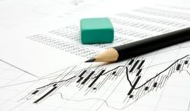 зеленая резина карандаша Стоковое Изображение