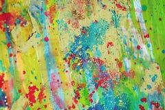 Зеленая сверкная предпосылка зимы пастельная абстрактная Стоковые Фото