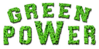 зеленая сила Стоковые Изображения