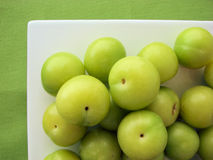 зеленая слива Стоковое Фото