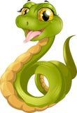Зеленая смешная змейка стоковая фотография rf
