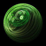 зеленая солнечная система Стоковые Изображения