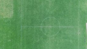 Зеленая спортивная площадка видеоматериал