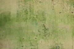 зеленая старая поцарапанная древесина текстуры Стоковое Изображение RF