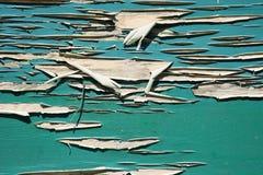 зеленая стена шелушения краски Стоковые Фото