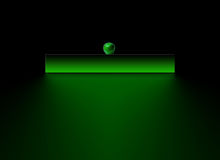 зеленая страница логоса Стоковое фото RF