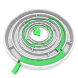 Зеленая стрелка иллюстрация вектора