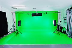 Зеленая студия экрана Стоковое Изображение RF