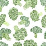Зеленая текстура брокколи Grungy безшовная картина Стоковые Изображения