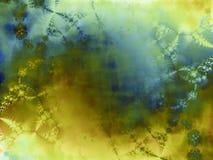 зеленая текстура краски inkblot Стоковая Фотография
