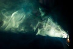 Зеленая фара дыма Стоковые Фото