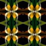 Зеленая черная оранжевая абстрактная текстура Детальная иллюстрация предпосылки Составленная безшовная плитка Картина печати ткан Стоковое фото RF