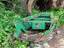 Зеленая шлюпка стоковая фотография rf