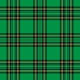 зеленая шотландка картины иллюстрация вектора
