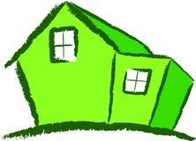зеленая дом самомоднейшая Стоковая Фотография RF