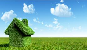 зеленая дом Стоковая Фотография RF