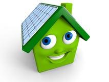 зеленая дом Стоковые Фото