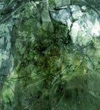 зеленая grungy текстура Стоковое фото RF